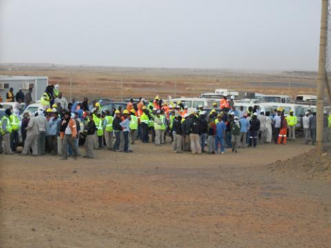 إضراب شامل يشل شركة كينروس تازيازت موريتانيا