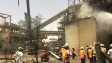 النيران تلتهم مصنع خامات النحاس في MCM