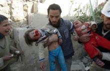 Enfants victimes de la guerre en Syrie