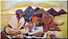 Toile d'un peintre mauritanien, Hamed