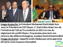 Conflit libyen :Isselkou Ould Ahmed Izidbih remet au cœur de la solution une initiative de l'UA conduite par le Président Aziz en 2011.