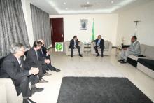 Le Premier ministre, M. Yahya Ould Hademine receva nten audience, à la primature à Nouakchott, une délégation d'investisseurs dans le secteur minier